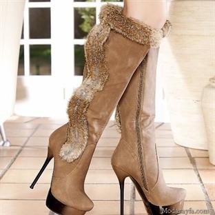 Yüksek Topuklu Çizme Modelleri 2014