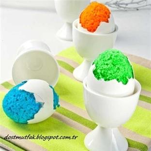 Yumurta Şeklinde Renkli Kek Tarifi