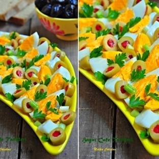 Zeytinli Yumurta Salatası
