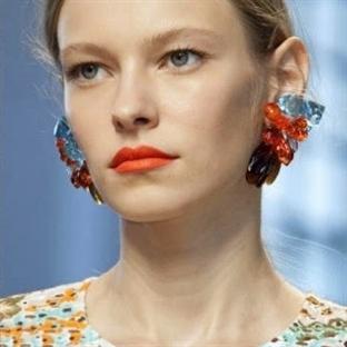 2014 makyaj trendi turuncu dudaklar