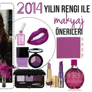 2014 Yılının Rengi Orkide Moru ile Makyaj Öneriler