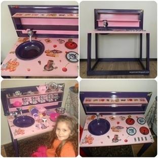 """Ahşap Boyama """"Çocuklar için Minyatür Mutfak"""""""
