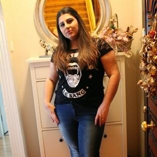 Blue Jeans ve Trend Dantelli Tişört Kombinim