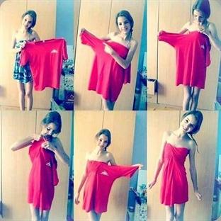 Dikişsiz Elbise Yapın