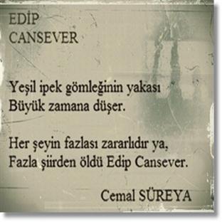 Edip Cansever'in anısına saygıyla..