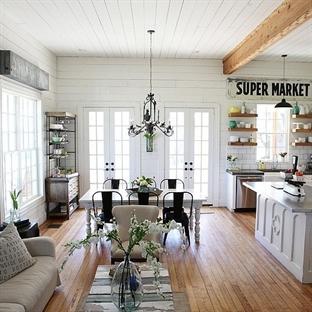 Eklektik Dekore Edilmiş Harika Bir Ev
