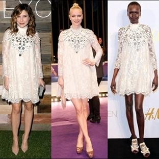 Giymeyen Kalmadı   H&M Beyaz Elbise