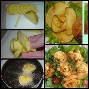 Gül Şeklinde Patates Nasıl Yapılır?