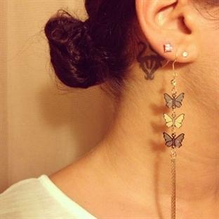 Kelebekli Küpe Modelleri