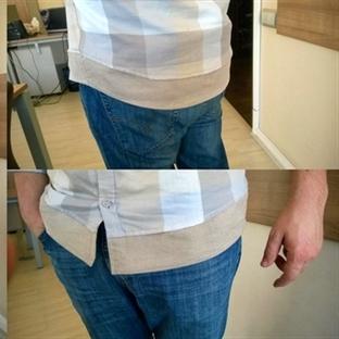 kısa gelen gömlek nasıl uzatılır?