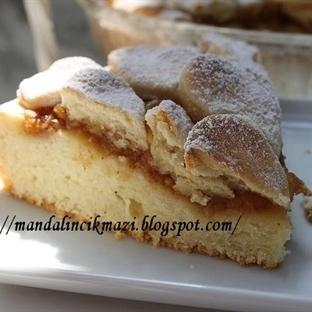 kurabiyeli elmalı tart