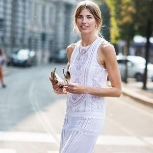 Moda: Beyaz Elbise