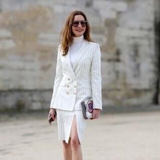 Moda: Beyaz Pinstripe