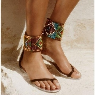 İnci sandalet modelleri 2014