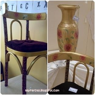 Sandalye ve Küp Boyama