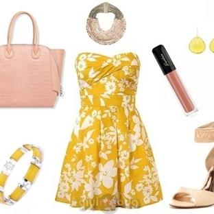 Sarı Kıyafet ve Aksesuar Kombinleri