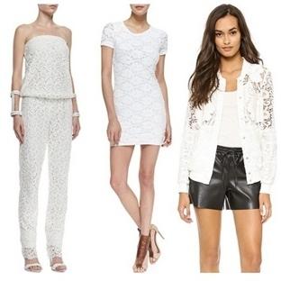 Sezonun Moda Trendi. Beyaz Dantel
