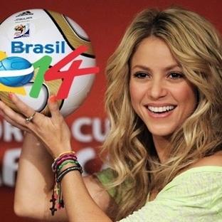 Shakira'dan bol futbolculu dünya kupası klibi