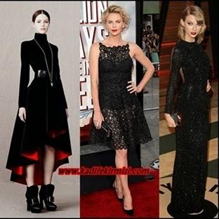 Siyahın Asaletini Alan Elbise Modelleri