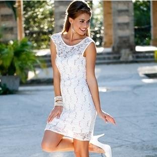 Yazlık Dantel Detaylı Elbise Modelleri
