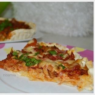 Yufkada Mantarlı Pizza