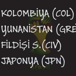 2014 Dünya Kupası: C Grubu
