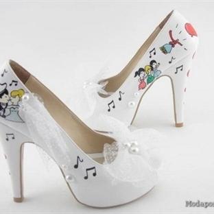2014 Yazlık gelin ayakkabıları