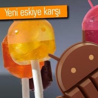 Android L ve Android 4.4 KitKat arasındaki farklar