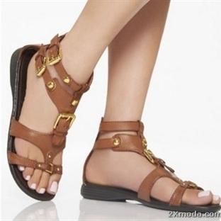 Bayan deri sandalet modelleri