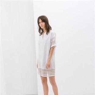 Beyaz Yazlık Elbise Modelleri 2014