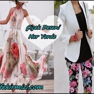 Çiçek Desenli Kıyafet Kombinleri