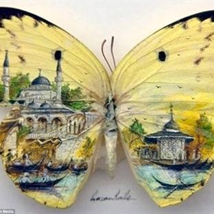 Çubuk Krakere ve Kelebek Kanadına Çizilen Minyatür
