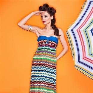 Desenli yazlık elbise modelleri