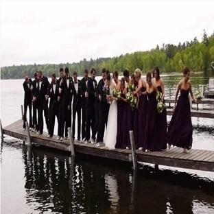 Düğün Öncesi Fotoğraf Çekilirken İskele Çökerse