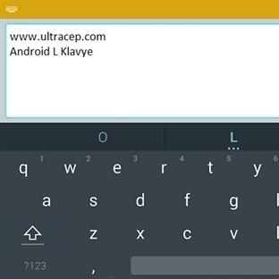 Google Android L İşletim Sistemi Klavye Yüklemesi