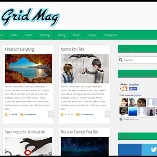 Grid Mag Blogger Teması