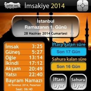 iPhone için 2014 Ramazan İmsakiyesi çıktı