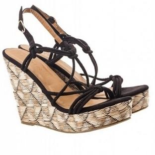 Koton 2014 yazlık siyah sandalet modelleri