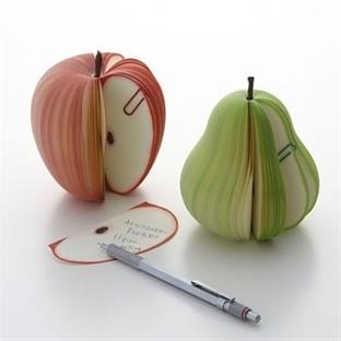 Meyve Şeklinde Not Defteri (Ema ve Armut)