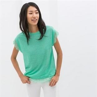 Zara 2014 bayan tişört modelleri