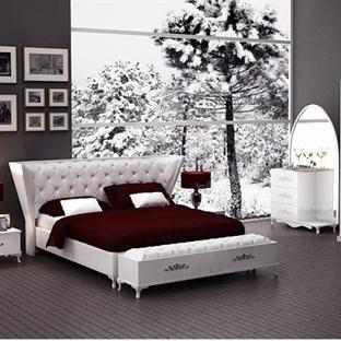 2014 Beyaz Yatak Odası Modelleri