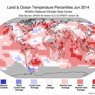 2014 Haziran'da Dünya Sıcaklık Rekoru Kırıldı
