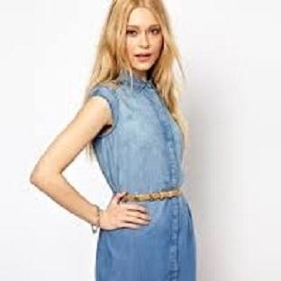 2014 Mavi elbise modelleri