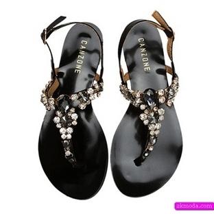 Canzone zımbalı dore bayan sandalet modelleri
