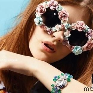 Çiçek Desenli Gözlük Modelleri 2014