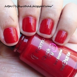 Flormar Quick Dry Oje - Fiery Red