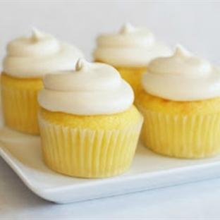 Glutensiz Limonlu Muffin Kek - Limonlu Cupcake
