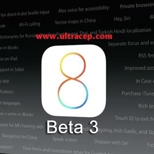 iOS 8 Beta 3 İndirilebilir Durumda
