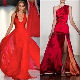 Kırmızı Elbiselerle Zamansız Şıklık