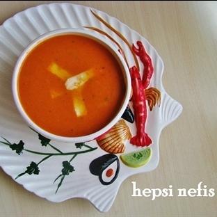 közlenmiş domates ile domates çorbası tarifi